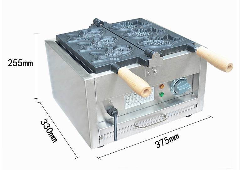 厂家直销!电热韩式小鱼饼机、不粘烤鱼饼机、鱼仔饼 5
