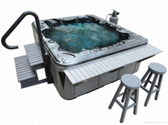 Top grade Acrylic Material and Whirlpool Massage Hot Tub