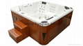 Center Drain Location and Massage Function spa whirlpool portable bathtub 1