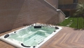 Hot sale Outdoor pool spa sex massage above ground plastic swimming pool 2