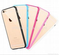 Clear Hard Bumper TPU case for iphone 6 / 6S