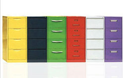 4 Drawer Colorful File Cabinet 1