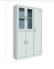 Combined locker glass door filing cabinet and clothing locker  1