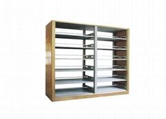 Folding Metal Library Shelf