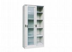 Steel Filing Glass Cabinet