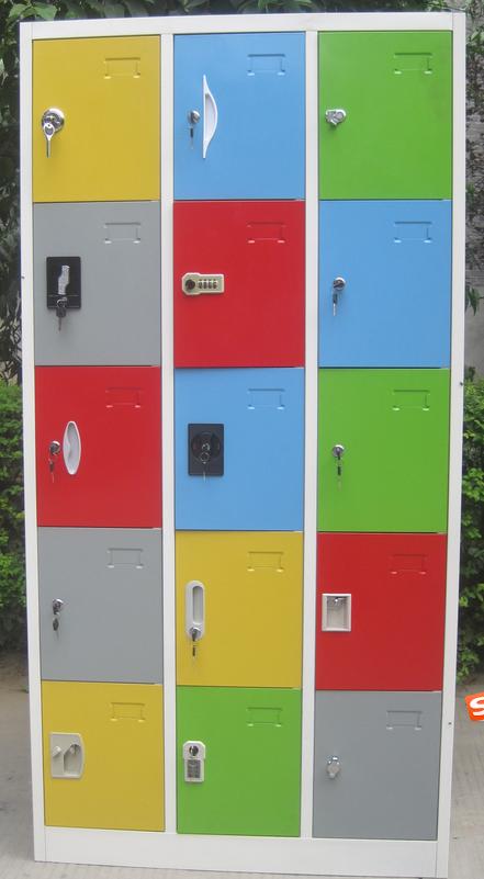 Various Color and Lock 15 Doors Metal Locker 1