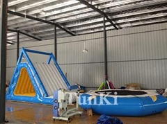 inflatable iceberg water climbing water park