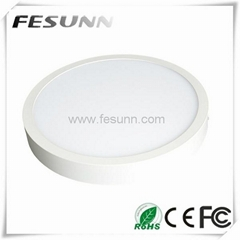 6W 12W 18W 24W White surface mounted round led panel light