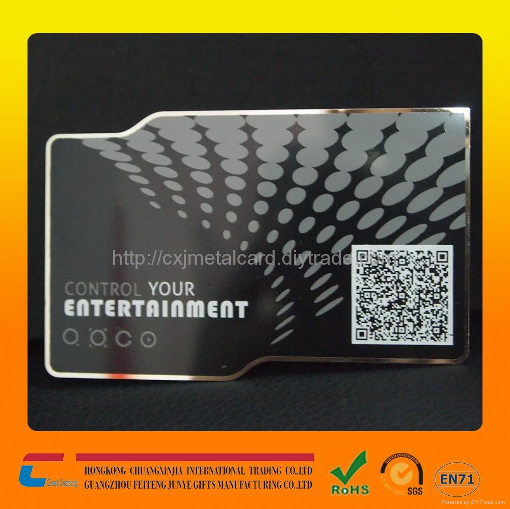 Unique Black Metal Business Cards Stainless Steel Metal