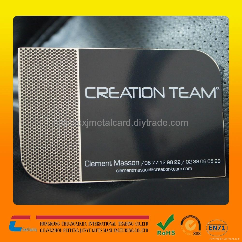 Unique black metal business cards stainless steel metal visiting ...