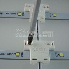 点阵型柔性LED网格灯照亮广告灯箱