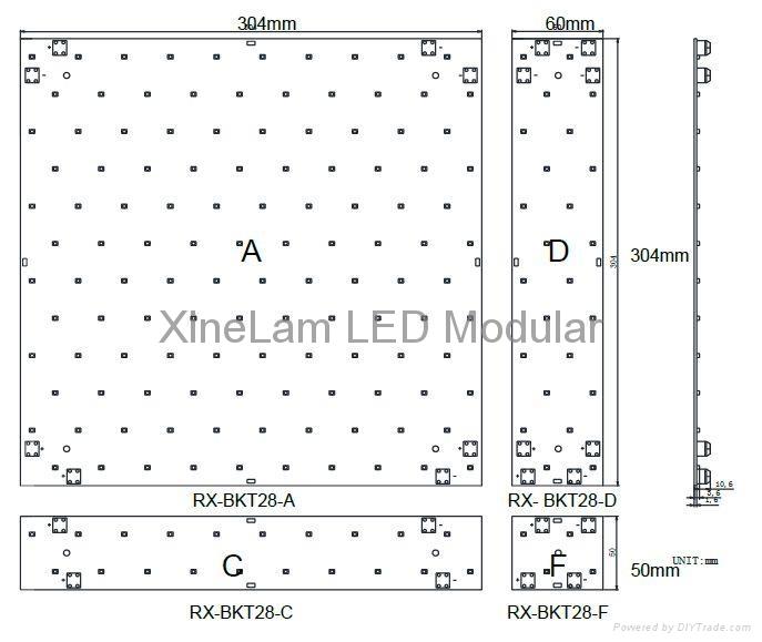 超亮度2500Lm/m2 LED 模組用於燈箱背光 3
