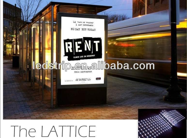 12v/24v slim led backlit lattice for big light boxes backlight 5