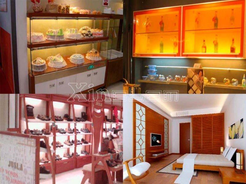 12 ~ 24v smd 5050 flat mini jewelry cabinet LED lighting bar 5