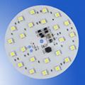 Bespoke LED pcb aluminium board 210mm 12V 10w 5050 LED-Hole Centre 2