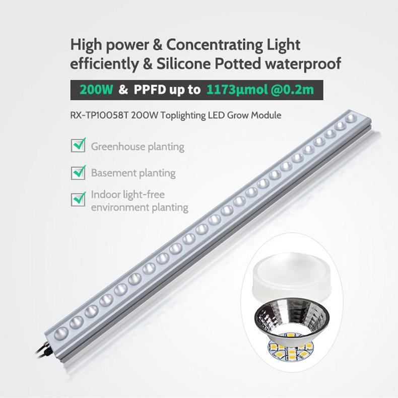 高功率頂光植物燈模組大棚種植地下室吊挂式大棚補光燈防水燈 5