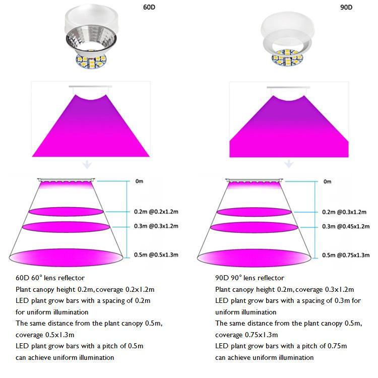 立體種植燈高功率垂直農業植物燈獨特的透鏡結構室內農場 修改 10