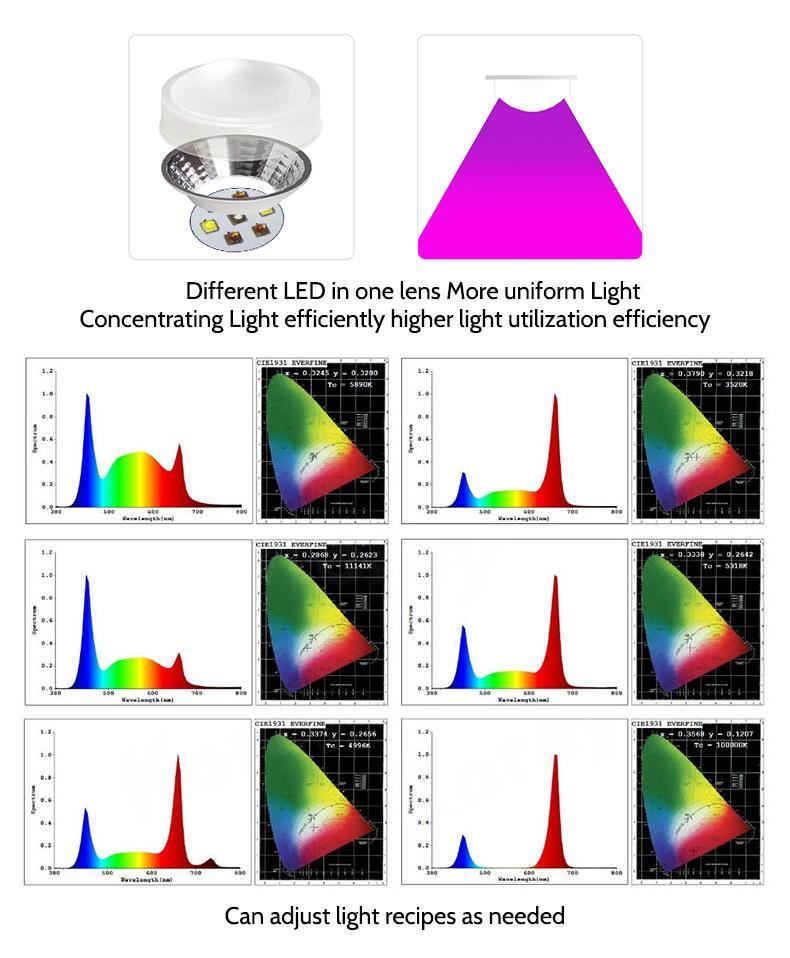 四通道四種不同的光譜可單獨控制組合植物燈模組植物燈 5