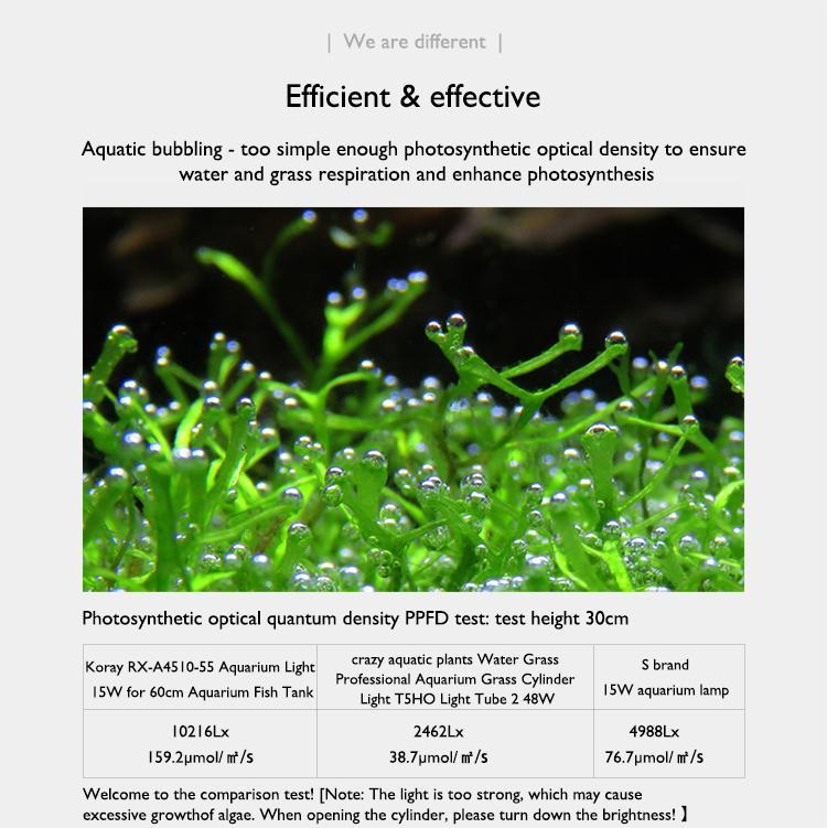 Aquarium plant growth lights fish tank lamp ultra-high system light effect 14