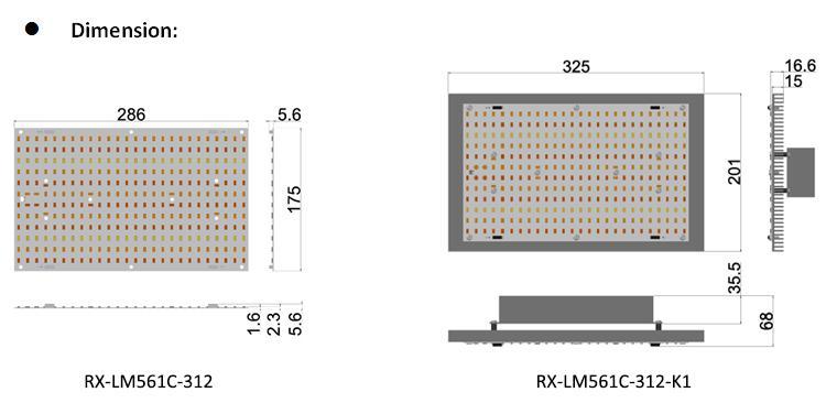 Medicinal high PAR  Samsung LM561C high efficiency lamp bead  plant tent  lamp 8
