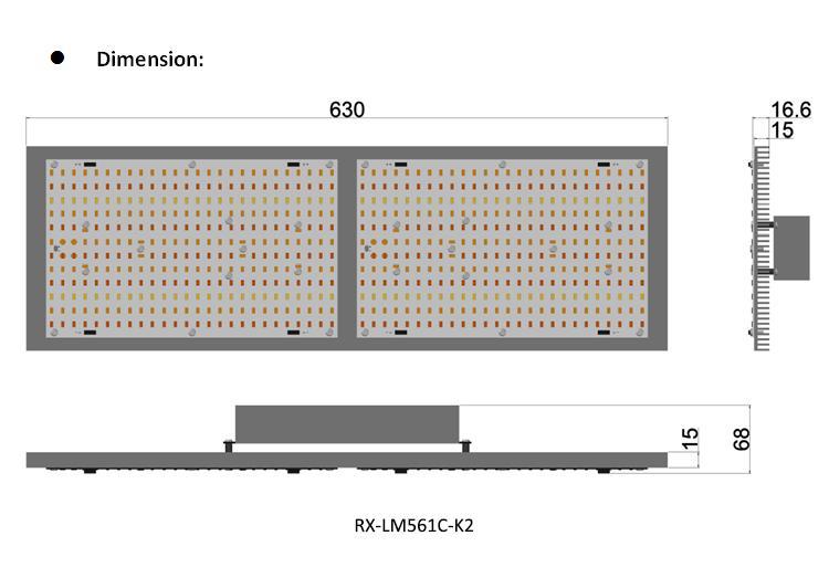 藥用高PAR輸出多種三星LM561C高效燈珠植物帳篷植物燈 9