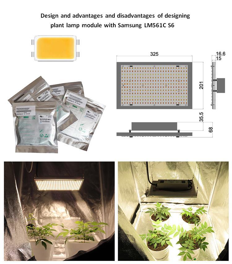 Medicinal high PAR  Samsung LM561C high efficiency lamp bead  plant tent  lamp 12