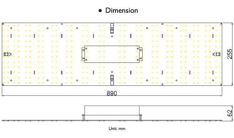 高PAR输出植物帐篷药用植物植物灯模组套件LM301高效率灯珠 7