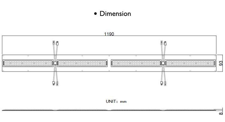 雙通道藥用植物燈LM301和額外的深紅660nm以及遠紅730nm 7