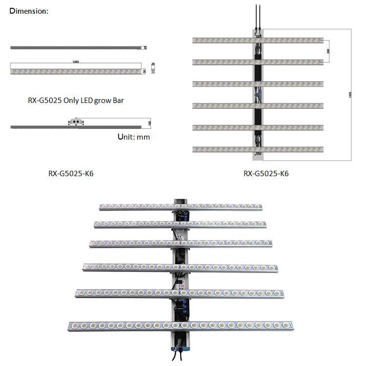 600W低價格經濟型頂光藥用植物藥用植物種植陣列燈 7