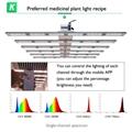 四通道可调光谱商业种植药用植物生长阵列灯 9