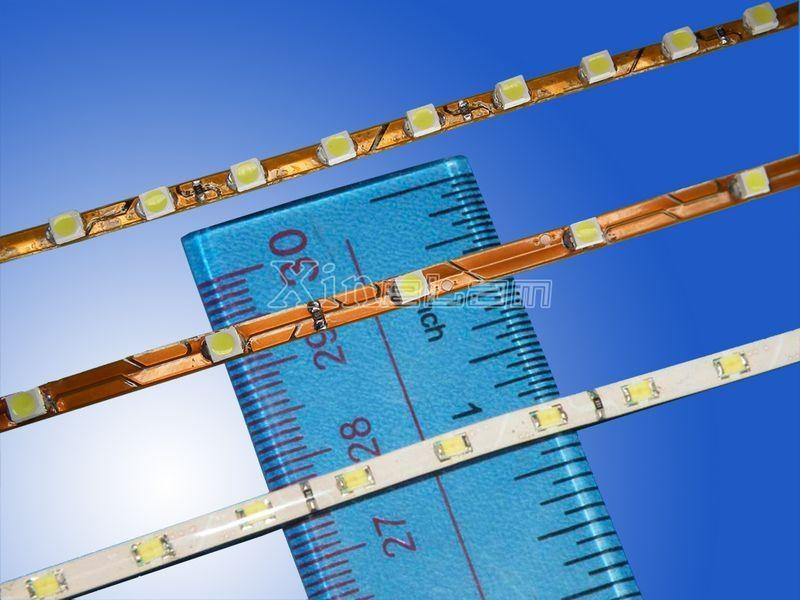 Types 1206/3528 warm white flexible led strip reel 3mm width 1