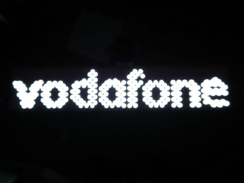 """ Vodafone"" LED backlit letter sign-waterproof 1"