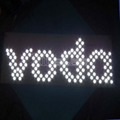 """ Vodafone"" LED backlit letter sign-waterproof 2"