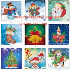 new 5d diamond christmas gift greeting card