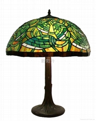European living room Tiffany Lighting brand glass chandeliers