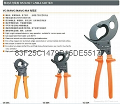 RATCHET CABLE CUTTERS