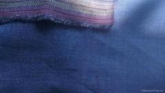 pure linen twill delave indigo  Indathrene Solid suit fabric