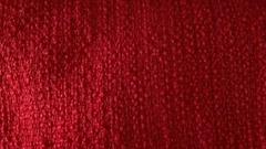 100%poly fancy yarn fabric red big belly coat jacket fabric