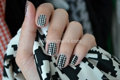 2014 Hot Houndstooth Sell Nail Polish Strips, Nail Stickers