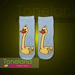 Babies animal jacquard tube socks