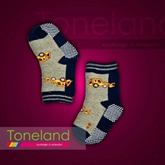Babies normal socks with printing sole
