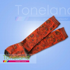 Kids jacquard knee high socks KLF0006