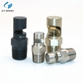Stainless steel wide angle deflection flat fan spray nozzle