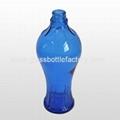 Blue Liquor Glass Bottle