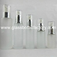 Frost Glass Lotion Bottle With Cap 5