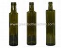 DORICA Dark Green Olive Oil Glass Bottle
