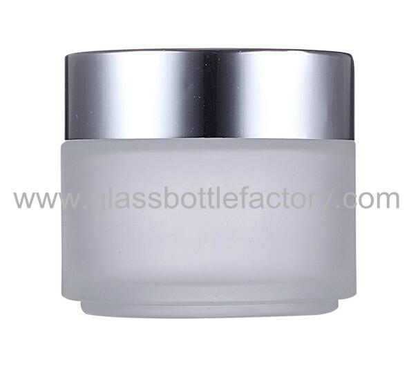 Glass Cosmetic Jar With Lid 1