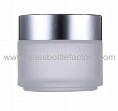 Glass Cosmetic Jar With