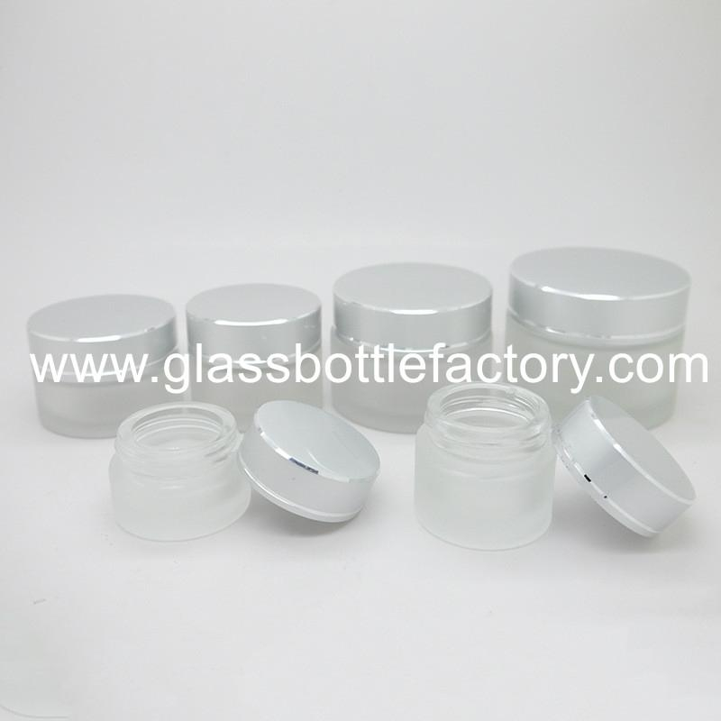 Glass Cosmetic Jar With Lid 4