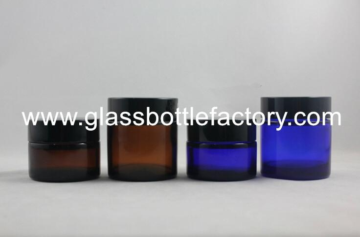 Glass Cosmetic Jar With Lid 6